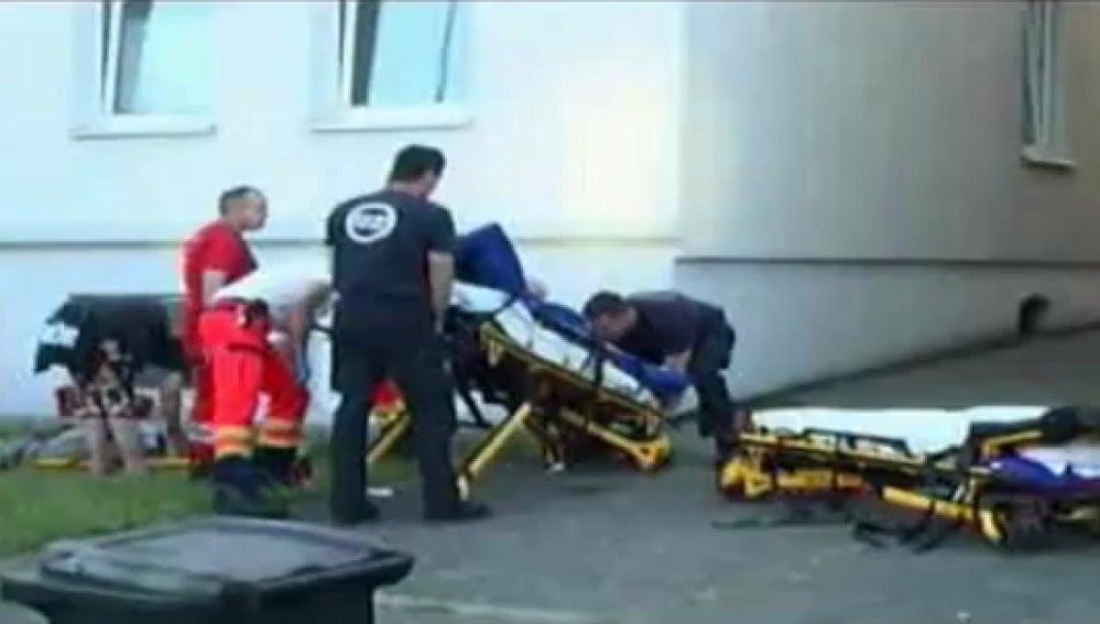 Los dos amantes llevados al hospital