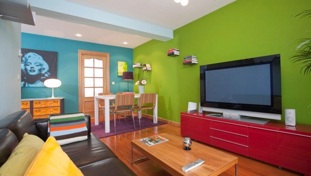 Sala llamativa y original