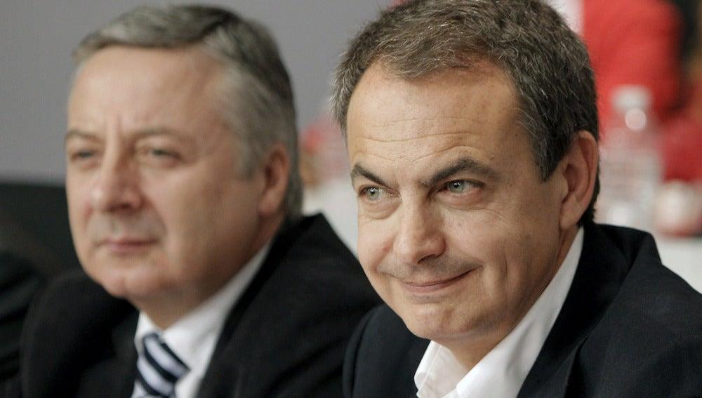 José Luis Rodríguez Zapatero junto a José Blanco