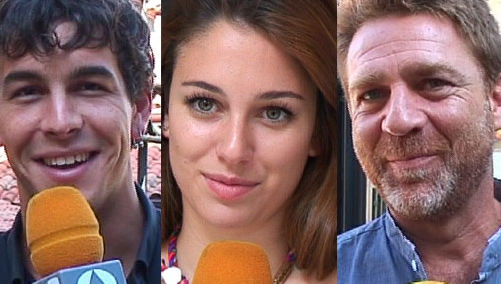 Mario, Blanca y Juanjo en Vitoria