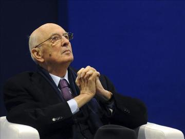 El presidente de la República de Italia, Giorgio Napolitano