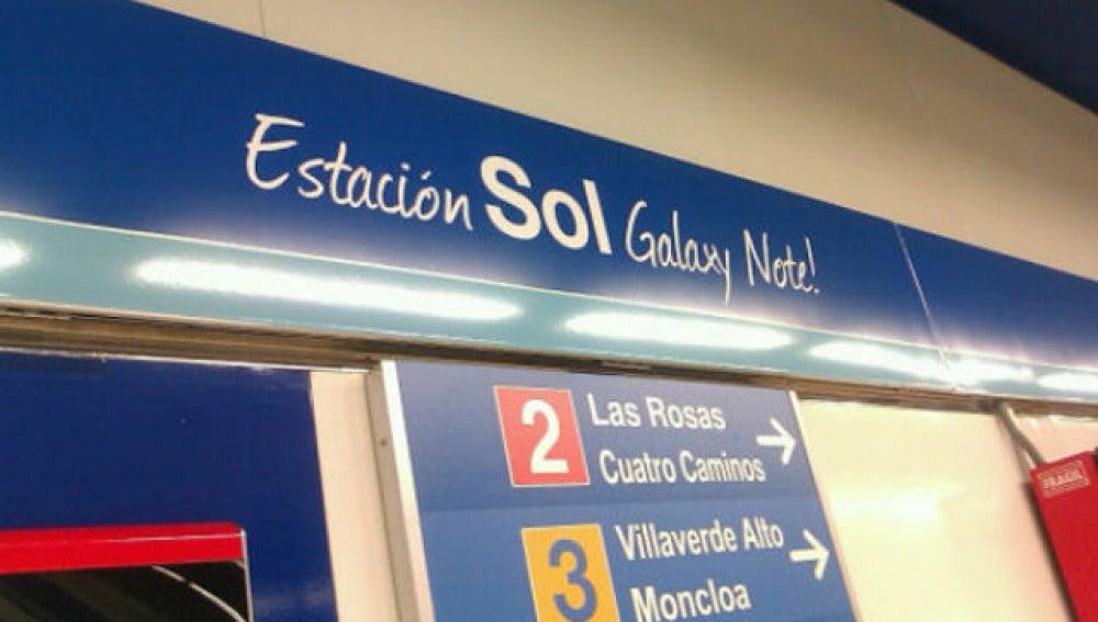 Samsung rebautizó la estación de Sol en 2012