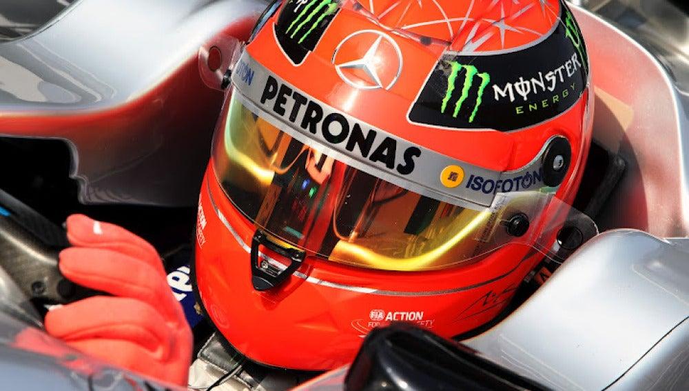 El casco de Michael Schumacher en Sepang