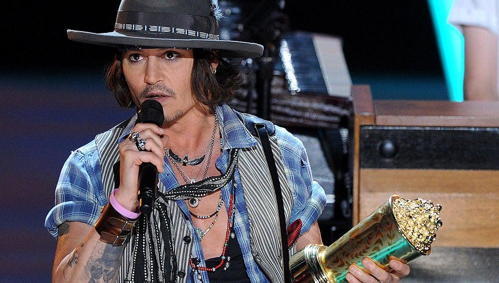 Johnny Depp recibió un premio honorífico