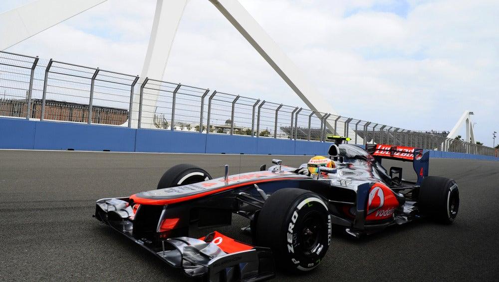 Hamilton en el GP de Europa