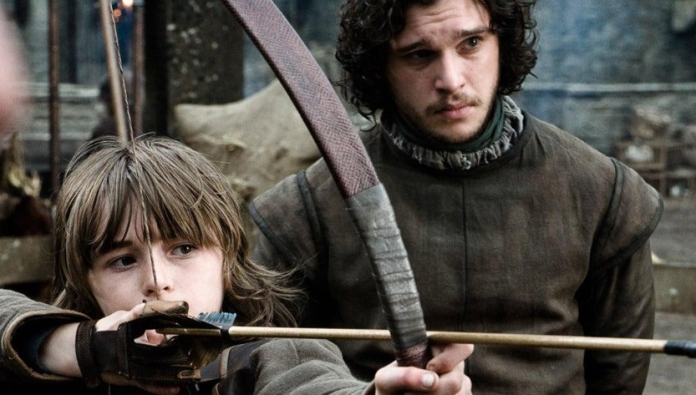 Jon Nieve y su hermano Bran