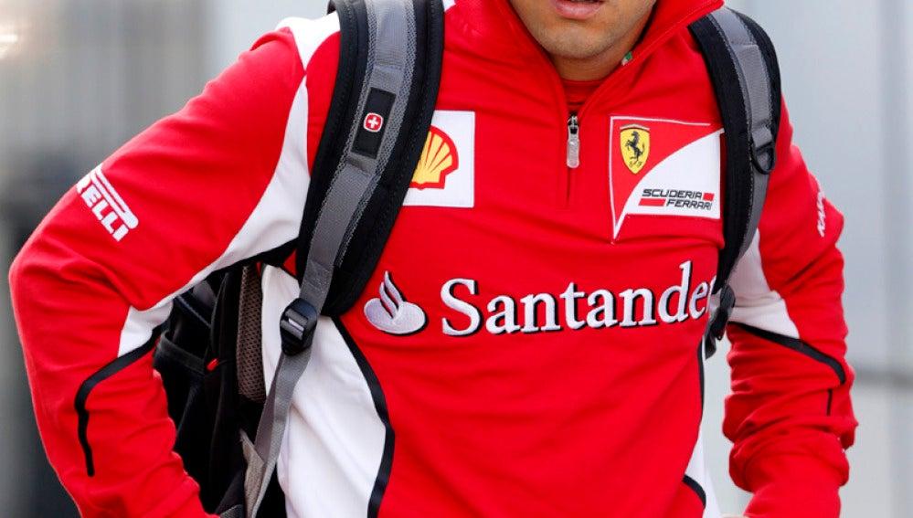 Felipe Massa en los entrenamientos del GP de Alemania 2012