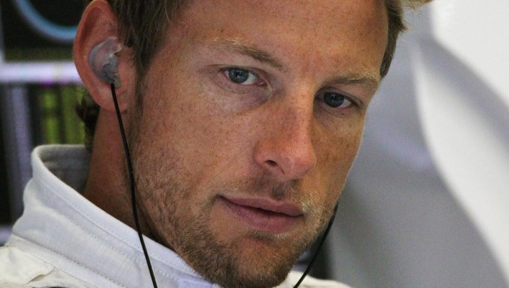 Jenson Button durante el GP de Bélgica.