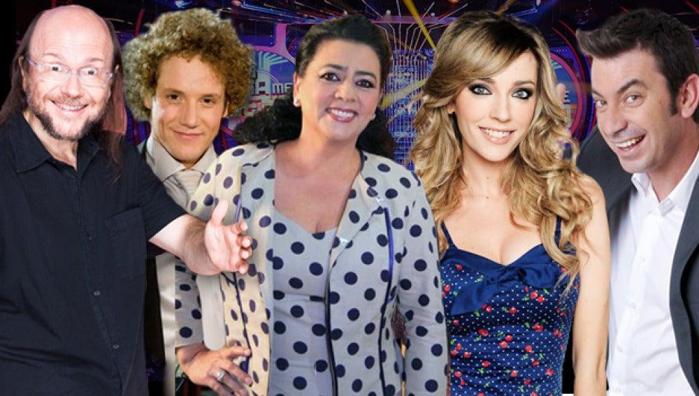 Santiago Segura, Daniel Diges, María del Monte, Anna Simon y Arturo Valls