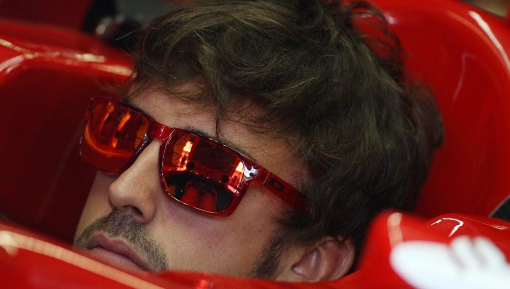 Alonso, relajado