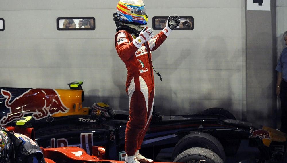 Fernando Alonso ganó en 2010 en Singapur