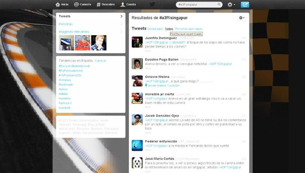 Las redes sociales empujan a Alonso en el #A3F1Singapur.