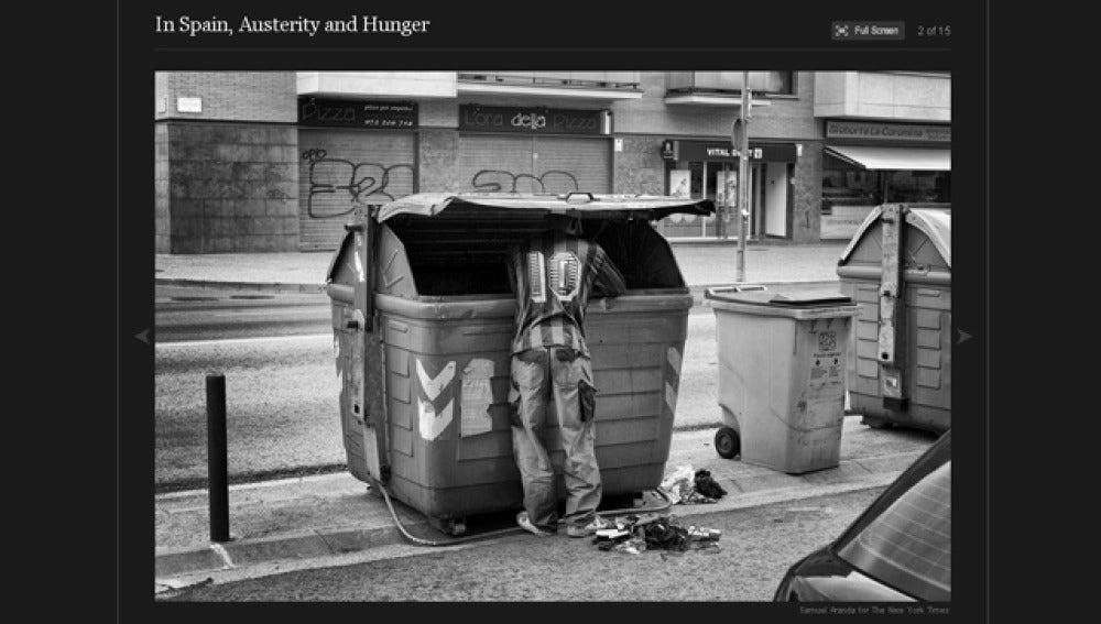 'En España, austeridad y hambre'