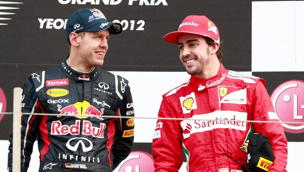Alonso y Vettel en Yeongam