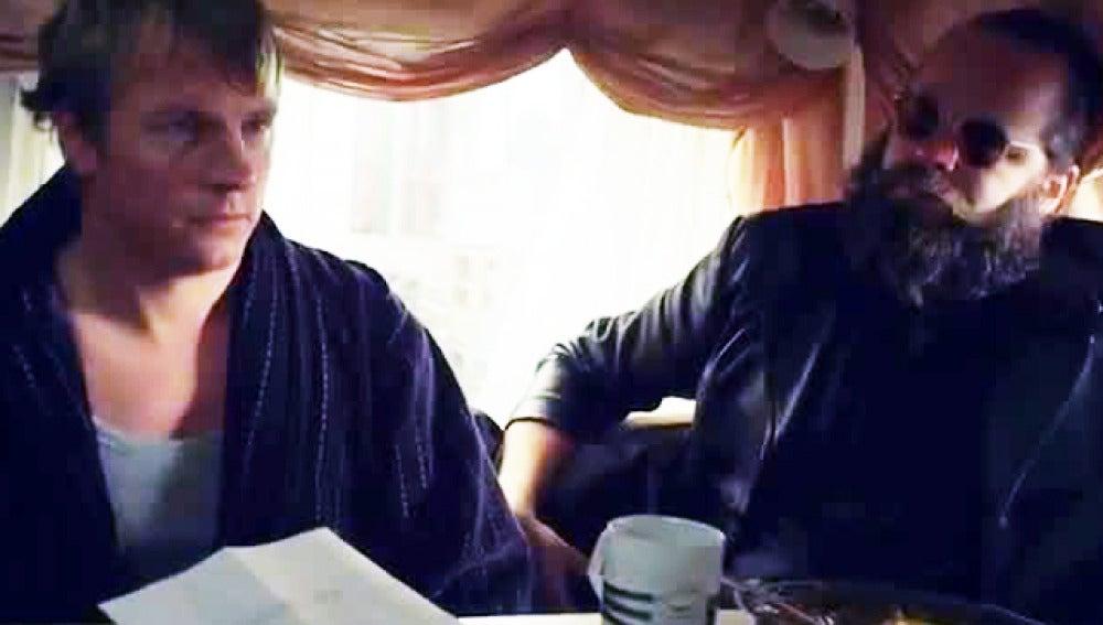 Kimi Raikkonen secuestrado para un anuncio