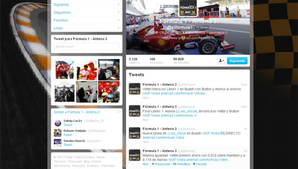 Twitter demanda a la escudería italiana mejoras en la India.
