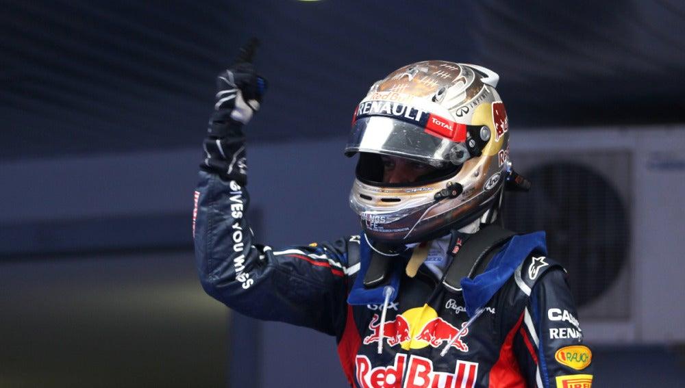 Celebración de Vettel