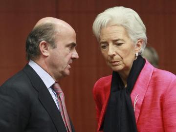 Luis de Guindos y Christine Lagarde