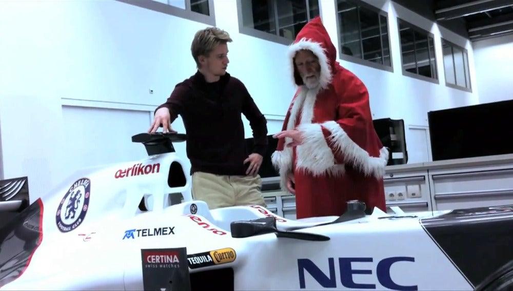 Esta Navidad Santa Claus viaja en Fórmula 1