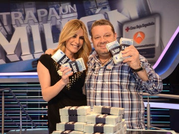 Alberto Chicote y Ainhoa Arbizu en Atrapa un millón