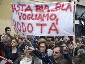 Protestas contra la reelección de Napolitano
