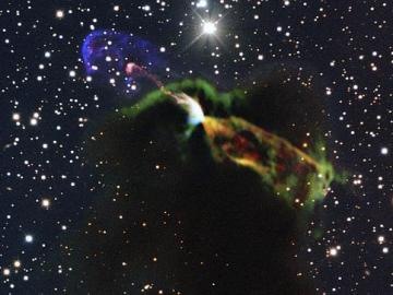 Imagen de la estrella tomada con el telescopio ALMA