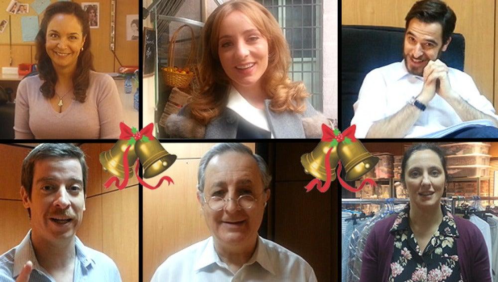 Los actores de Amar es para siempre os desean... ¡Feliz Navidad!