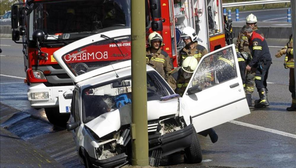 Accidente de tráfico registrado en la ronda sur de Oviedo