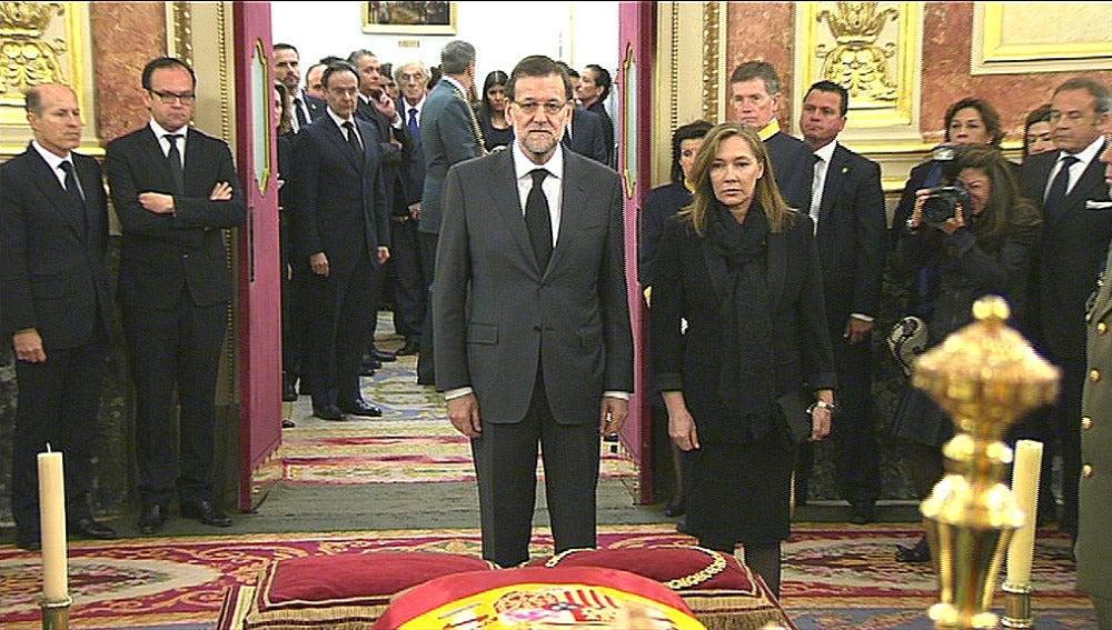 Mariano Rajoy y su esposa Elvira Fernández