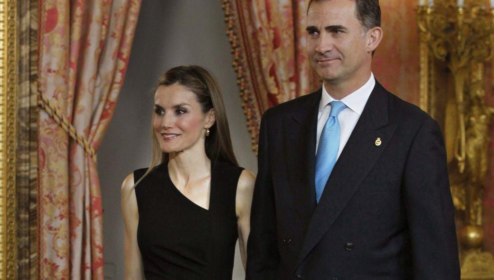 Don Felipe y doña Letizia, en la reunión anual de los patronatos de la Fundación Príncipe de Asturias