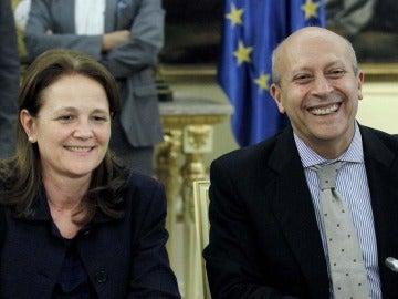 Montserrat Gomendio y José Ignacio Wert