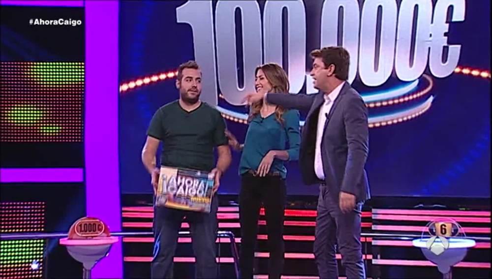 Sergio gana los 100.000 euros en Ahora Caigo