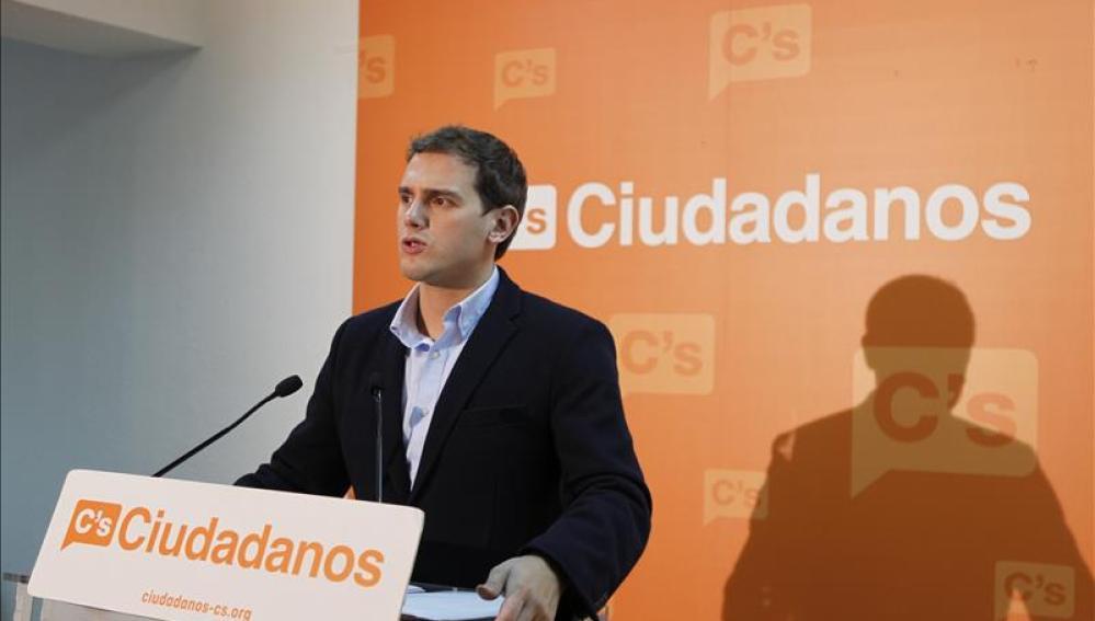 Rivera durante un acto en Cádiz