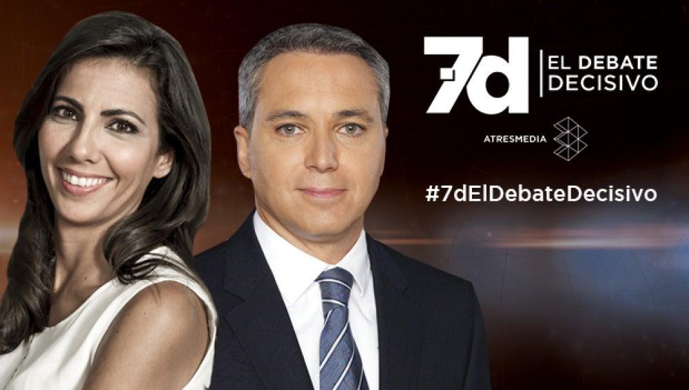 Vicente Vallés y Ana Pastor, moderadores del debate