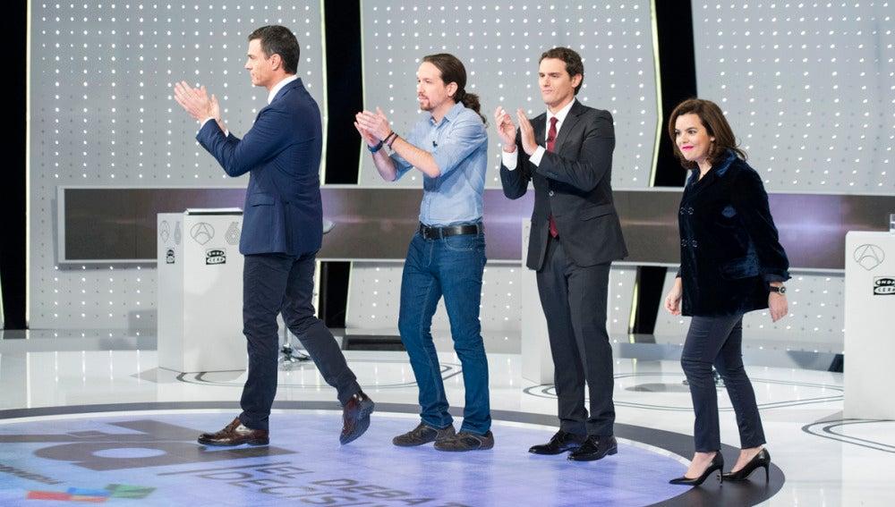 Los cuatro participantes del 7D