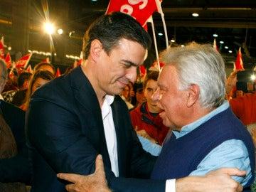 Pedro Sánchez y Felipe González
