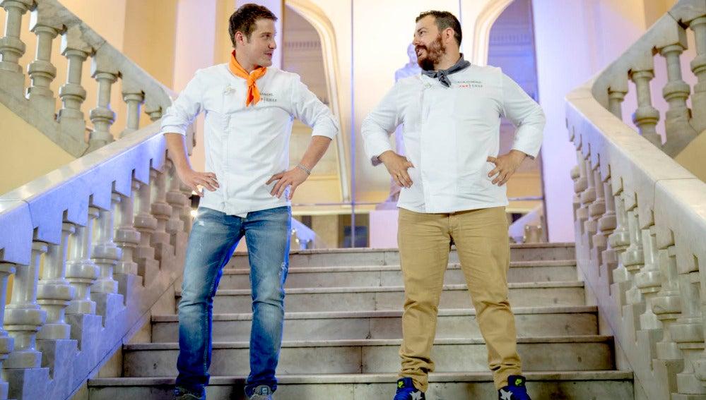 Marcel y Alejandro, muy nerviosos ante las reacciones de los espectadores