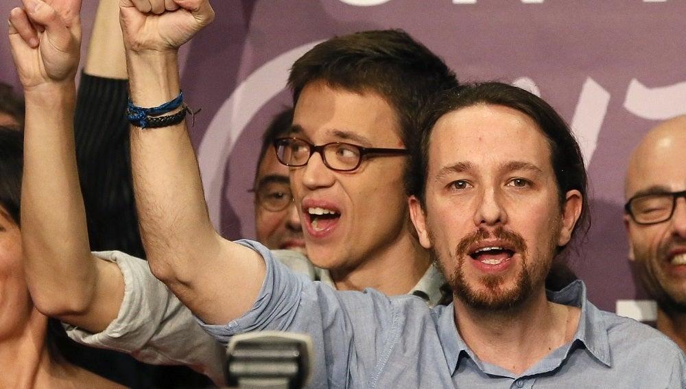 Pablo Iglesias celebra sus resultados