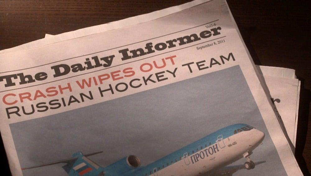 La catástrofe del equipo de Hockey,