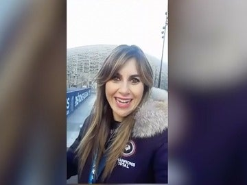 Susana Guasch, en el Parque de los Príncipes