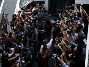 Periodistas en una cobertura informativa