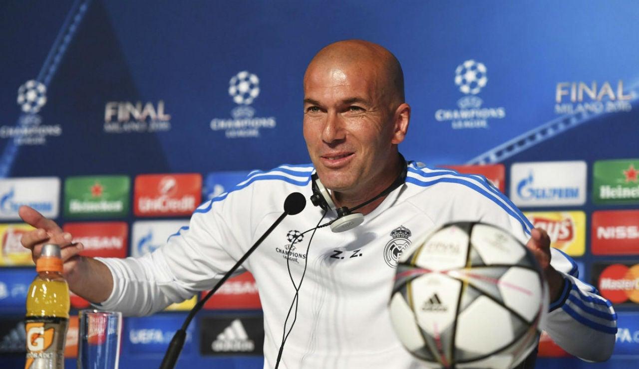 Zidane, en rueda de prensa en Milán