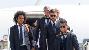 Los jugadores del Real Madrid aterrizan en Milán