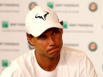 Nadal, en la rueda de prensa en la que ha anunciado su retirada de Roland Garros