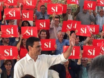 Pedro Sánchez en un mitin