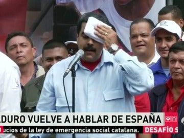 """Maduro anuncia que emprenderá acciones judiciales por la """"guerra psicológica"""" de los medios españoles"""