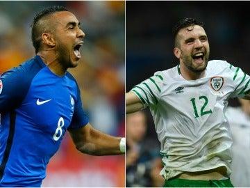 Payet y Shane Duffy, jugadores de Francia e Irlanda del Norte