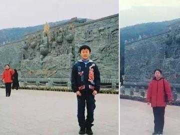 Un joven descubre a su suegra en una imagen de su infancia
