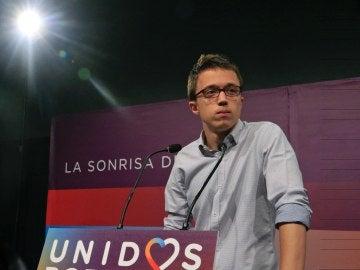 """Íñigo Errejón: """"No son buenos resultados para Unidos Podemos, no son los que esperábamos"""""""