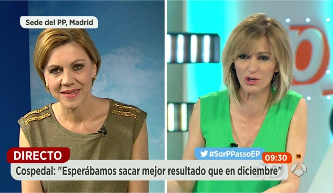 """De Cospedal, sobre el veto a Rajoy de C's: """"Tenemos una diferencia notable como para pedir la cabeza de nadie"""""""